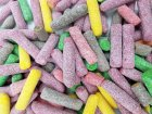 hitschler Saure Hitschies Dragierte Kaubonbons - Frucht & Cola 1 kg - Bruchware