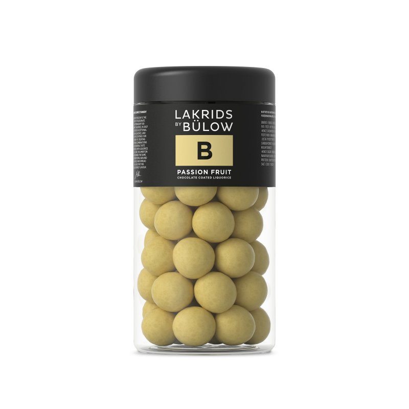 Lakrids by Bülow - B - Passion Fruit - Lakritz mit Schokolade - 295g
